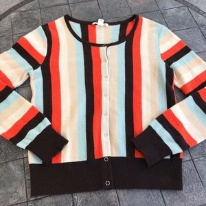 Alice + Olivia 100% Cashmere Striped Cardigan